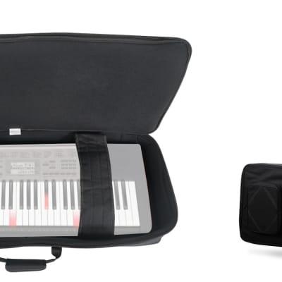 Rockville 61 Key Padded Rigid Durable Keyboard Gig Bag Case For CASIO LK-190