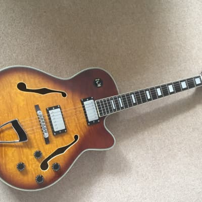 SubZero  New Orleans Semi Acoustic Jazz Guitar, Sunburst for sale