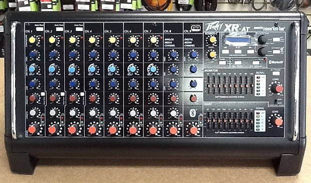 peavey xr at 9 channel powered mixer with auto tune in reverb. Black Bedroom Furniture Sets. Home Design Ideas