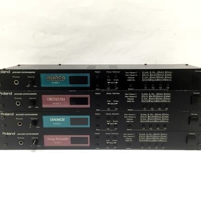 Roland Sound Expansion M-BD1 M-OC1 M-DC1 M-SE1 sound modules 4 units deal!
