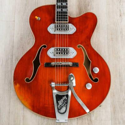 Eastman T58/v Guitar, Spruce Top, TV Jones Pickups, Antique Varnish Finish