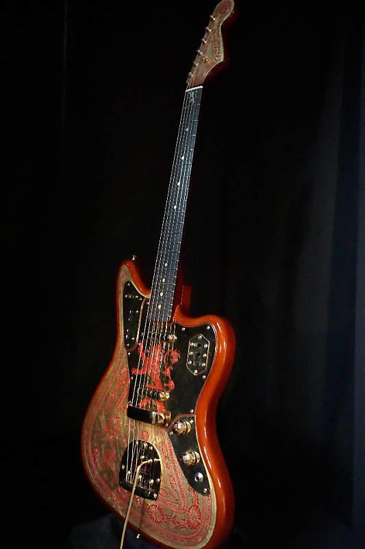 fender custom game of thrones house lannister jaguar guitar reverb. Black Bedroom Furniture Sets. Home Design Ideas