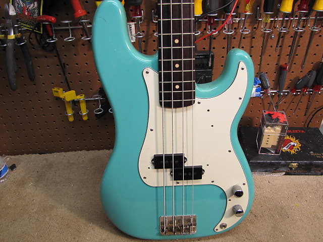 1964 Fender Precision in Seafoam Green Refin