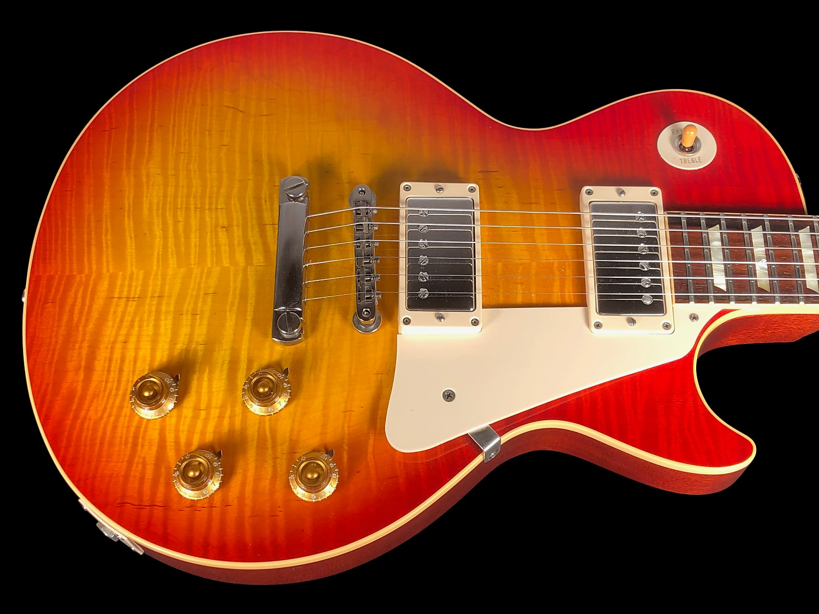 2007 Gibson Les Paul 1959 Historic R9 Custom Shop '59 Reissue Flame Top ~ Washed Cherry