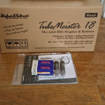Hughes & Kettner Tubemeister 18 Head W/ Spare EL84 Tubes, and Gig Bag