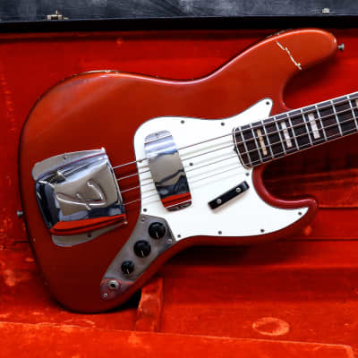 1969 Fender Jazz Bass - Candy Apple Red - OHSC