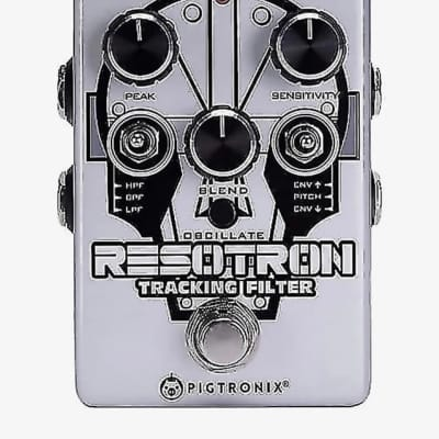 Pigtronix Resotron Analog Tracking Filter Silver / Graphic
