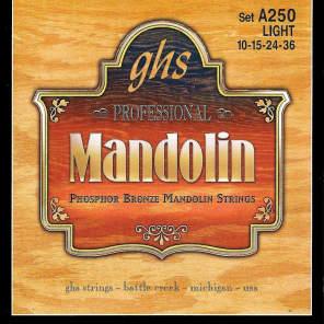 GHS A250 Phosphor Bronze Loop End Mandolin Strings - Light (10-36)