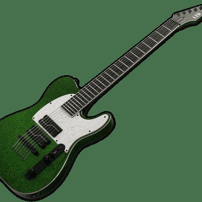 ESP LTD SCT-607 Stephen Carpenter Signature Baryton 7 Strings 2020 Green Sparkle for sale