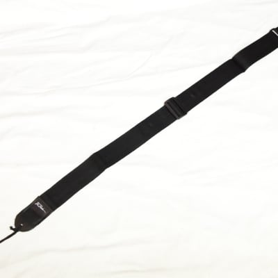 BC RICH plain solid BLACK nylon GUITAR strap - NEW