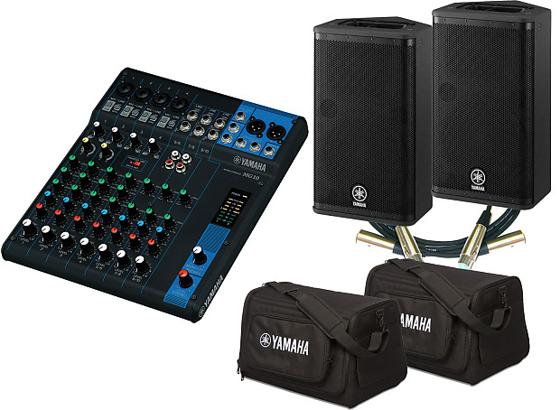 yamaha mg10 mixing console bundle with 2 dxr8 powered reverb. Black Bedroom Furniture Sets. Home Design Ideas