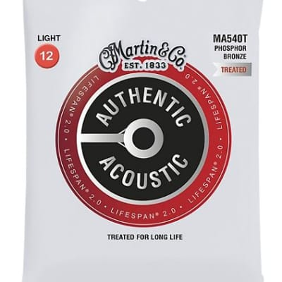 Martin MA540T Lifespan 2.0 Phosphor Bronze Light Authentic Acoustic Guitar Strings