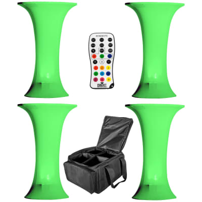 Wedding Party DJ Bar Cocktail Tables 4 Pack w Chauvet EZWedge Tri LED Uplights