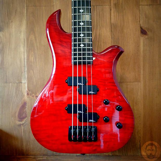 BC Rich NJ Series Eagle 5 String Bass - Trans Red | Reverb