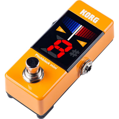 Korg Limited Edition Pitchblack Mini Pedal Tuner - Orange for sale