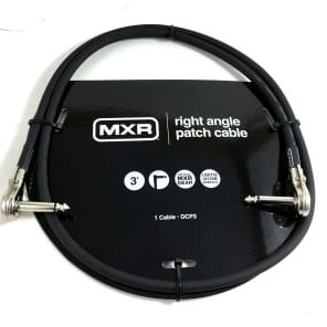 Instrument Cable Patch MXR 3 feet (~1m)  Right Angle Ends Lifetime Warranty