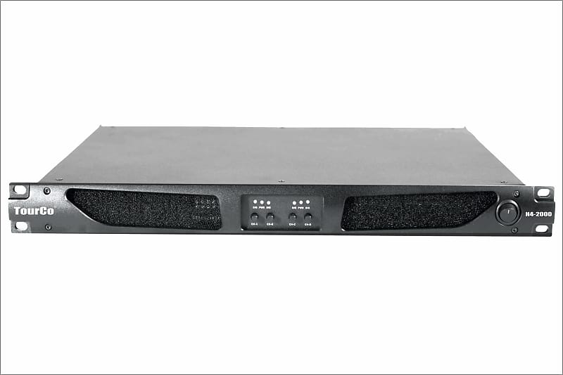 TourCo H4-2000 1U 4/ch 20,000 Watt TD Power Amplifier