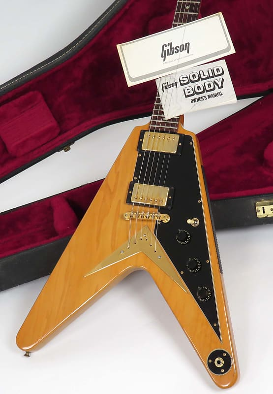Gibson Flying V Heritage Korina Reissue 1982 Natural With