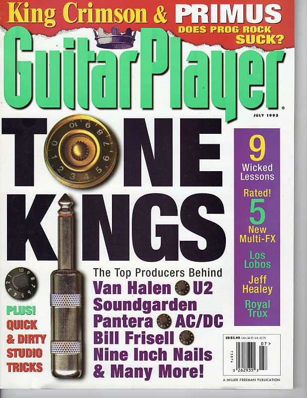 1995 Guitar Player King Crimson Primus Los Lobos Jeff Healey Royal Trux  Philip Degruy Goldfinger