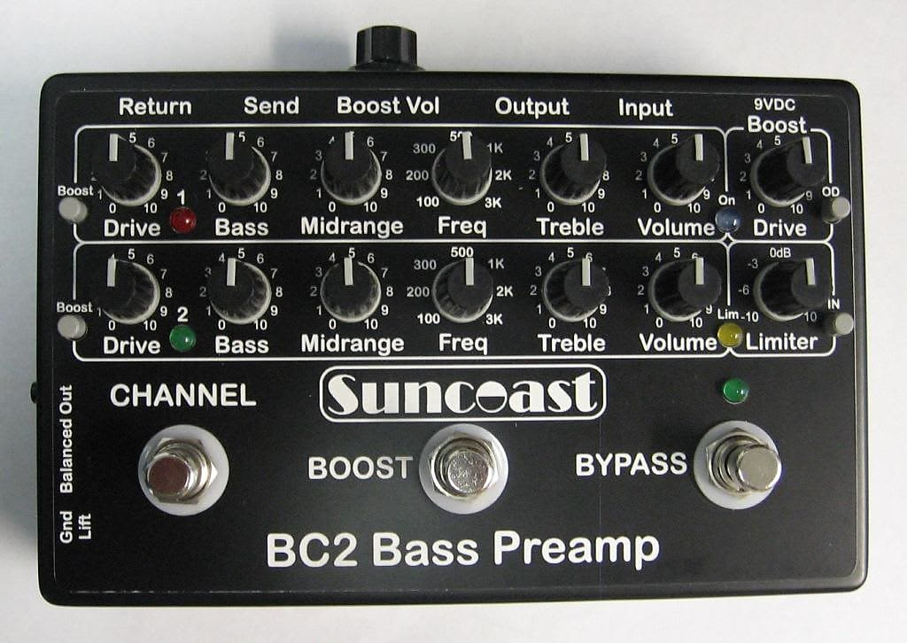 Suncoast BC-2 Bass Preamp *NEW-IN-BOX*
