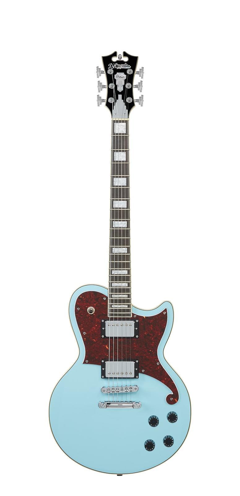 D'Angelico Premier Atlantic Singlecut Electric Guitar Sky Blue w/ Gig Bag