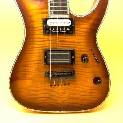 ESP LTD H 1000 Amber Bare Knuckle Blackhawk for sale