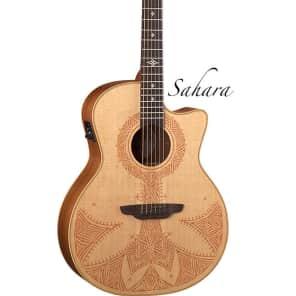 Luna Guitars Henna Sahara Acoustic-Electric Guitar, HEN SAH SPR for sale