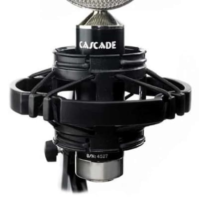 Cascade Fat Head II Short Ribbon Microphone (Lundahl) Black / Polished Nickel