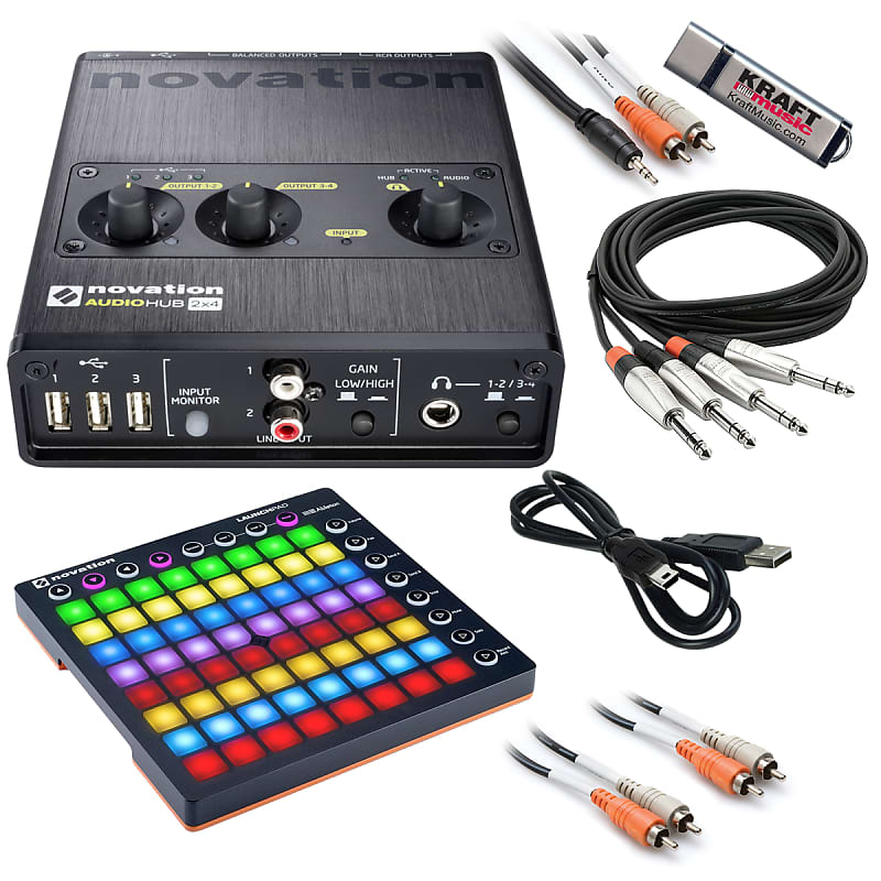 Novation Audiohub 2x4 Audio Interface and USB Hub + Launchpad STUDIO RIG