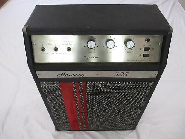 1968 Harmony 525 Bass Amp Supro Thunderbolt Sleeper W Original Jensen C15P