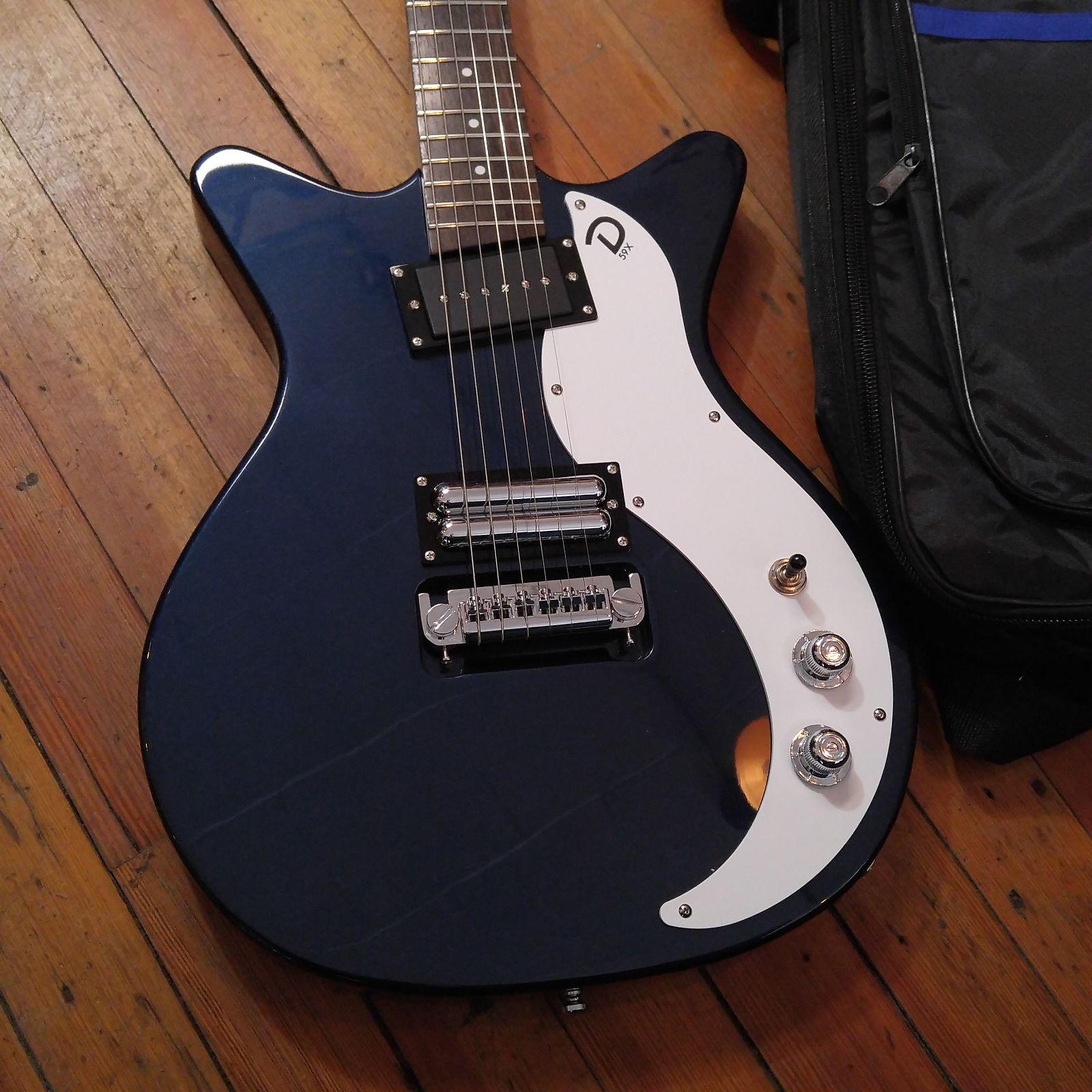 Danelectro 59X Dark Blue w/LPD C166 Gig Bag & Free Shipping
