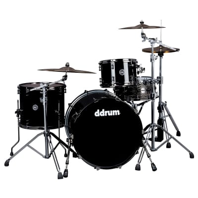 DDrum M.A.X. 322 3pc Shell Pack 12/16/22 - Piano Black Lacquer MAX 322 PB