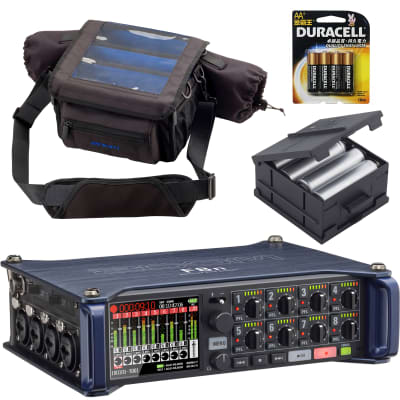 Zoom F8n Multi Track Field Recorder With PCF-8 Protective Case, BCF-8 battery case & batteries