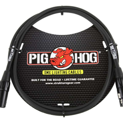 Pig Hog 5ft DMX Lighting Cable 3 Pin, PHDMX5
