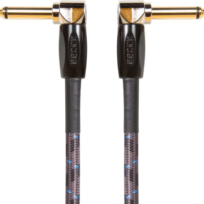 """Boss BIC-3AA 1/4"""" TS Right-Angled Instrument Cable - 3'"""