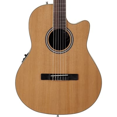 Ovation AB24CII-CED Applause Standard Nylon Mid Depth Natural for sale