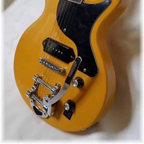 Dillion LP junior with vintage tremolo in TV Yellow. WOW! for sale