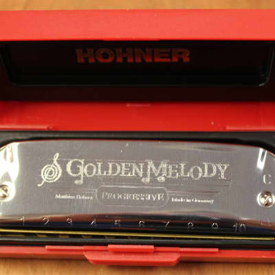 Hohner 542 Golden Melody Diatonic 10 Hole Harmonica - A