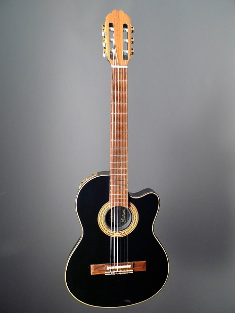 gibson chet atkins cec black nylon crossover reverb. Black Bedroom Furniture Sets. Home Design Ideas