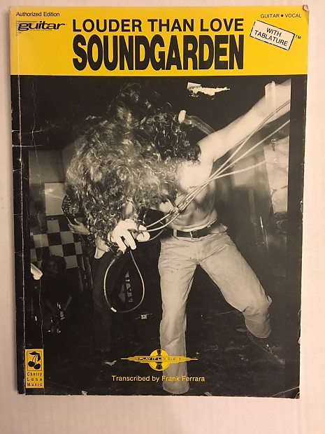 Soundgarden Louder Than Love Guitar Tab Tablature Book Reverb