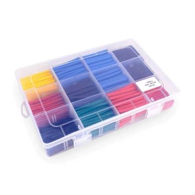 Heat Shrink 560pcs 5 Color Electric Insulation Tube Kit Storage Box Free Shipping
