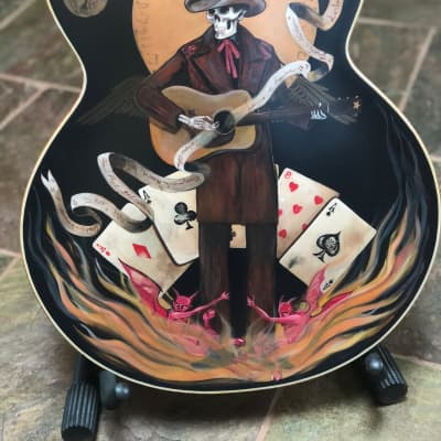 "The Gretsch ""Outlaw"" Masterbuilt Custom White Falcon. C.W. Fleming.  Art by Sara Ray. NAMM 2005"