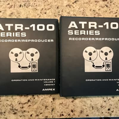 Ampex ATR 100 Series operation and maintenance manual 1980