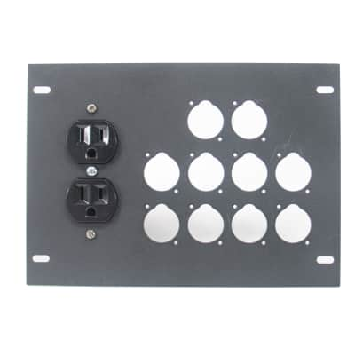Elite Core FBL-PLATE-10+AC Plate for FBL Floor Box With AC Duplex - no connectors