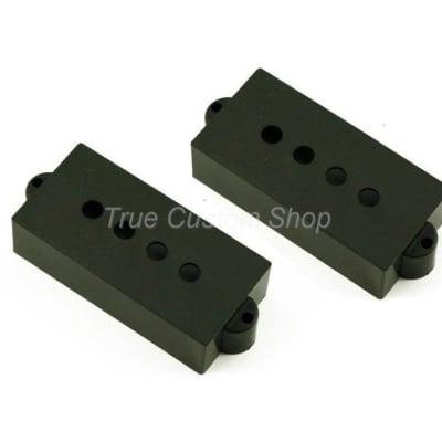 True Custom Shop® Black Pickup Covers for Fender Precision Bass or P Bass