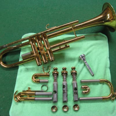 King 601 Trumpet - Rebuilt & Ready, Well Used - Case and Bach 5C Mouthpiece