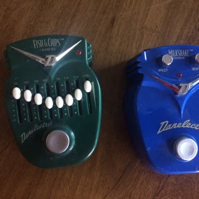 Danelectro  Fish & Chips EQ and Milkshake Chorus 1990s Lot of 2 Pedals for sale