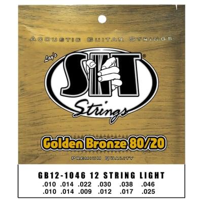 SIT Strings GB121046 12-String Light Golden Bronze 80/20 Acoustic .010-.046