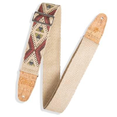 Levys 2 Inch Diamond Tribal Hemp Strap Multicolor Natural for sale