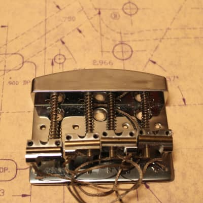 Shadow NOS Bass Bridge with Piezo Saddles Chrome for sale